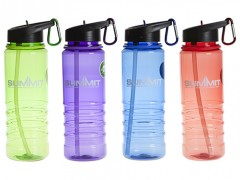 Summit 700ml Water Bottle With Folding Straw & Carabina