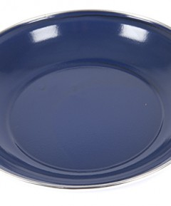 Summit 20cm Deep Enamel Plate with Stainless Steel Rim